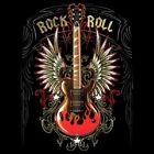 Fantasy Biker Gothic Chopper T-Shirt Gitarre Rock´n Roll S - 6XL