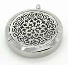 Stainless Steel 8 Petal Flower Aromatherapy Oil Locket Pendant Necklace