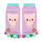 Child Dots Letters Bear Pattern Ankle Length Toe Socks