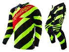 NEW 2016 TROY LEE DESIGNS SE CAUTION MX GEAR COMBO FLO YELLOW/ BLACK ALL SIZES
