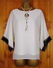 NEW DOROTHY PERKINS IVORY CREAM BLACK SUMMER TUNIC TOP UK SIZE 8 10