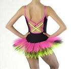 TO ORDER Funky Hip Hop Tutu Black Neon Feature Back All sizes