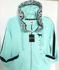Victoria's Secret PINK Aqua Funnel Neck Full-Zip Hoodie
