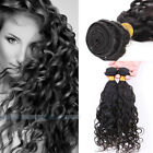 3 bundles Brazilian Virgin Natural Curly wave Human Weft Extensions 150g #1b