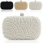 Clutch Bag Satchel Women Pearl Beaded Handbag Wedding Evening Prom Cocktail DZ88
