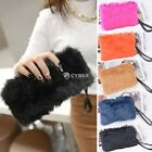 Women Wallet Purse Faux Fur Wedding Party Handbag Fashion Evening Bag Tote DZ88