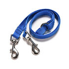 Pet 2-WAY LEATHER DOG LEAD DOUBLE LEASH SPLITTER WITH CLIPS COLLAR HARNESS  JR