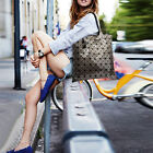 New Womens Diamond Shaped Design Faux Leather Tote Handbag Shoulder Bag Shopper