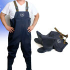Mens Womens Waterproof Working Overalls Pants Clothes with Non Slip Rain Boots