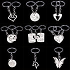 New Family Mom Horse Deer Heart Key Chain Keyrings Silver Chain Keychain Charms