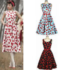 Womens Vintage 50s 60s Retro Floral Rockabilly Pinup Housewife Party Swing Dress