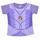 Sofia The First Girls Kids T-Shirt Purple Printed Top Stretch Fit 100% Cotton