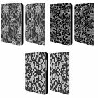 HEAD CASE DESIGNS BLACK LACE LEATHER BOOK CASE FOR SAMSUNG GALAXY TAB A 8.0