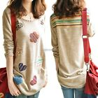NEW Women's Loose Long Sleeve Cotton Casual Blouse Shirt Tops Fashion Blouse AU