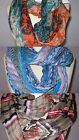 INFINITY SCARF SHOULDER WRAP THREE WAY MULTI COLORS ONE SIZE BLUE BROWN ORANGE
