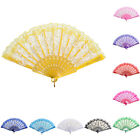 Chinese Style Dance Party Wedding Lace Folding Hand Held Flower Fan Stylish