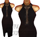 New Black Halterneck Backless Bodycon Midi Dress size 8-14 | 100% Satisfaction