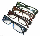 G&G Mens Spring Loaded Slim Metal Frame Plastic Arms Reading Glasses +1.0~3.5
