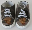 Teeny Toes Brown Canvas Baby Infant Shoes 0-6mth or 6-12 mth