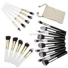 Pro 10pcs Basic Eye Brushes Eye Shadow Eyeliner Makeup Brush+Carrying Bag Kit