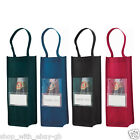 NEW BOTTLE GIFT BAG - WINE CARRY BIRTHDAY WEDDING - NON WOVEN CARRIER HOLDER