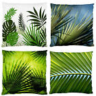 Green Palm Leaves Sleek Feel Scatter Throw Decor Cushion Case~New~Print 2 Sides
