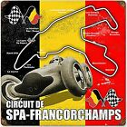 Spa Francochamps rusted metal sign  (pst 1212)