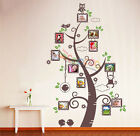 Wall Decal Sticker Removable Family Photo Frames Clock With Quote DC0119