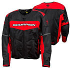 Scorpion Mens Red/Black Eddy Vented Textile Motorcycle Jacket
