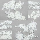 DIY 1 Pair Lace DIY Trims Ribbon Sewing Applique Bridal Craft Dress Off White