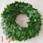 Rattan Wreath Wedding Decoration Thick Green Leaves Large forest Holiday Party