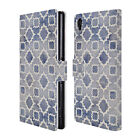 OFFICIAL MICKLYN LE FEUVRE MOROCCAN LEATHER BOOK WALLET CASE FOR SONY PHONES 1