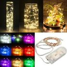 20/30/40 LED String Battery Operated Copper Silver Wire Fairy Lights Xmas Party