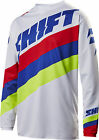 Shift Racing White/Blue/Red White Label Tarmac Dirt Bike Jersey MX ATV BMX MTB