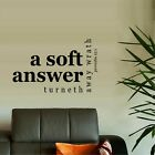 PROVERBS 15:1 A SOFT ANSWER TURNETH AWAY SCRIPTURAL CHRISTIAN VINYL WALL DECAL