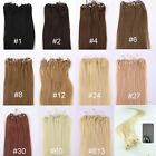 20inch 100S 200S Loop Micro Rings Beads Tip Remy Human Hair Extension Straight