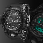 OHSEN Men's LED Date Black Silicone Military Swimming Army Sport Wrist Watch