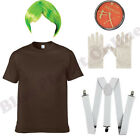 LADIES WOMENS UMPA LUMPA OOMPA LOOMPA FANCY DRESS COSTUME BOOK WEEK