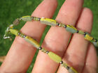925 Silver Old Roman Glass Peridot Bead necklace Afghanistan A179