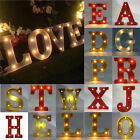 "12"" Marquee LED Light Letter (A to M, S,X,T,N,O,W,R,P) Sign Carnival Shabby New"