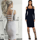 New sexy women off the shoulder sheath slim bodycon bandage evening party dress