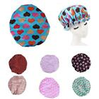 Large Spotty Flower Shower Cap Cap Bath Shower Reusable Clear Satin Hair Cover