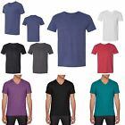 MEN'S LIGHTWEIGHT, V-NECK, MODERN TRI-BLEND, SHORT SLEEVE T-SHIRT S M L XL 2X 3X