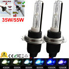 Pair H7 5000 6000 8000K 35W 55W Xenon HID Headlight Replacement Bulbs Metal Base
