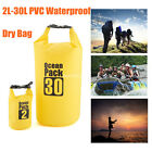 2L-30L PVC Waterproof Dry Bag Sack for Canoe Floating Boating Kayaking Camping