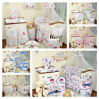 EXCLUSIVE 9, 11 or 21 Pieces Baby Nursery Bedding Set To Fit Cot or Cot Bed