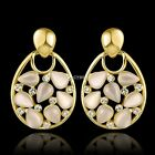 Fashion Women Drop Dangle Stud Earrings Hollow out Crystal Opal Earrings DZ88