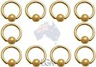 CAPTIVE Bead Ring CBR Rings GOLD Pl pierced Nose Eyebrow Belly Ear Body Jewelry*