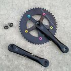 SUGINO COOL MESSENGER TRACK BICYCLE CRANKS w/ 46T Ring 130BCD FIXED GEAR