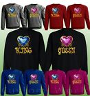 Couple Sweaters - King & Queen - His And Hers New Color Love Matching Crewnecks